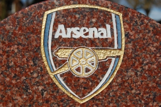 Engraved and painted Arsenal emblem